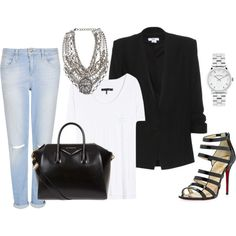 """""""Boyfriend Jeans and Blazers"""" by marissa-91 on Polyvore"""