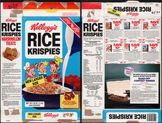 kelloggs cereal boxes   Kellogg's Rice Krispies cereal box - coupons - 1979   Flickr - Photo ...