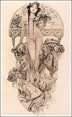 Alphonse Mucha élément des arts décoratifs...