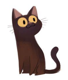 Daily Cat Drawings — 381: Burmese Cat