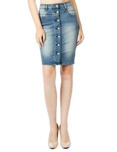 LE3NO Womens Stretchy High Waisted Denim Pencil Midi Skirt Denim Skirt, Denim Jeans, Waisted Denim, Midi Skirt, Short Skirts, Jean Skirts, Women's Skirts, Shorts, Pencil