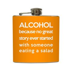 Funny Alcohol Definition Flask Liquid Courage by LiquidCourage, $18.95