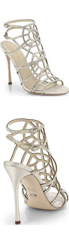 Sergio Rossi Swarovski Crystal embellished sandals