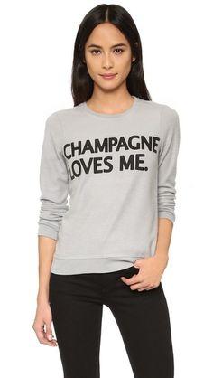 Chaser Champagne Loves Me Sweatshirt