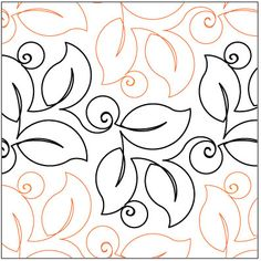 Bush Berries quilting pantograph pattern by Lorien Quilting