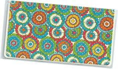 Checkbook Cover Kaleidoscope Floral duplicate by rabbitholeonline, $6.25