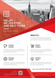 Buy Flyer Bundle 2 in 1 by CreativeCursor on GraphicRiver. Corporate Flyer print dimension with bleeds. One Pager Design, Layout Design, Design Design, Graphic Design Flyer, Brochure Design, Brochure Ideas, Creative Flyers, Creative Design, Marketing Flyers