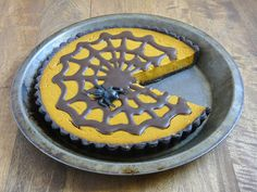 #Vegan Pumpkin Chocolate Tart.