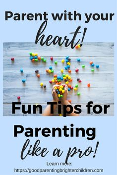 """4 Ideas to Help you Parent Like a Pro Every parent can learn to """"Parent like a Pro."""" Parenting is the most important work you will ever do and the most rewarding.  Here are 4 ideas to help you on your journey. Parents, you're gonna love these ideas—especially #4. Click to read more: https://goodparentingbrighterchildren.com/parent-like-pro/"""