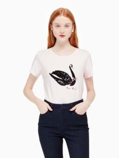 swan around tee | Kate Spade New York