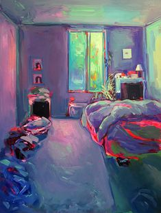 Intimate, safe and romantic: Ekaterina Popova paints the interiors of her friend's bedrooms Art Inspo, Painting Inspiration, Arte Sketchbook, A Level Art, Gcse Art, Pastel Art, Art Design, Aesthetic Art, Bunt