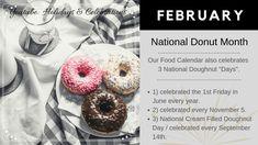 Meal Calendar, Holiday Dates, Doughnut, Celebrations, November, Holidays, Desserts, Youtube, Food