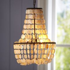 $198.99 Shell Swag Chandelier | PBteen