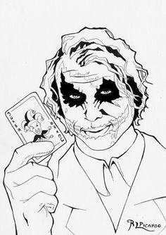 #joker #DC #DectetiveComic #Batman #HeathLedger #actor #retrato #retrait #draw #picture #dbujo #tintas #tintes #film #movie #pelicula #villano #villan #elcaballerooscuro #thedarkknight
