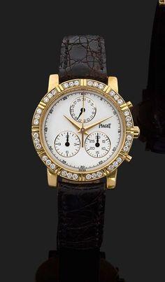PIAGET HAUTE COMPLICATION. RÉF. 14014 VERS 2000 Montre bracelet avec chronographe et calendri | juwelier-haeger.de