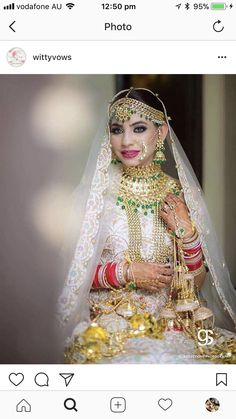 However, most people suffering from excess weight gain problems fail to understand this basic fact. Indian Bridal Outfits, Bridal Dresses, Bridal Jewellery Inspiration, Bridal Jewelry, Indian Wedding Bride, Indian Weddings, Punjabi Bride, Punjabi Chura, Wedding Attire