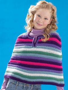 Cool Crochet Poncho | Yarn | Free Crochet Patterns | Yarnspirations