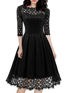 Looking for HELYO Women's Vintage Floral Lace Half Sleeve Cocktail Party Casual Swing Dress 595 ? Check out our picks for the HELYO Women's Vintage Floral Lace Half Sleeve Cocktail Party Casual Swing Dress 595 from the popular stores - all in one. Knee Length Dresses, Lace Dresses, Vintage Dresses, Work Dresses, Wedding Dresses, Lace Wedding, Bridesmaid Dresses, Party Dresses For Women, Swing Dress