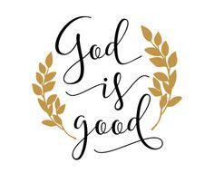 Free SVG cut file - God is Good