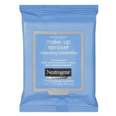 Make-up Remover Cleansing Towelettes by Neutrogena effectively dissolve all traces of dirt, oil and make-up - even waterproof mascara - for clean, fresh skin in one easy step in a convenient 7 count travel size. Neutrogena Makeup Remover, Makeup Remover Wipes, Makeup Wipes, How To Apply Eyeshadow, Eyeshadow Primer, Travel Size Makeup, How To Match Foundation, Protector Solar, How To Grow Natural Hair