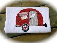 Image result for applique caravan tea towels