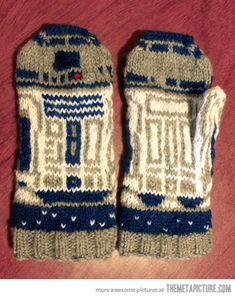R2-D2 Mittens… GOD YES. (Because everything has to be a reference)