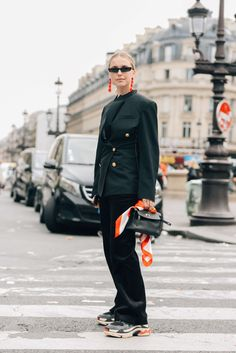 September 28, 2017 Paris, Pernille Teisbaek, Balenciaga, Hermès, Sneakers, Earrings, Suits, SS18 Women's