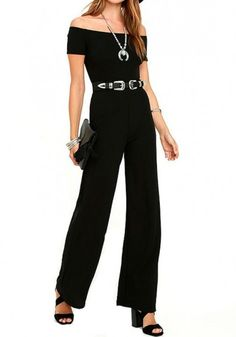 Zmvkgsoa Rompers Womens Jumpsuit 2017 Summer Overalls Sexy Off Shoulder Wide Leg Jumpsuits Combinaison Femme Rompers Women, Jumpsuits For Women, Cocktail Jumpsuit, Chic Summer Style, Black Off Shoulder, Casual Jumpsuit, Summer Jumpsuit, Romper Outfit, Pants For Women