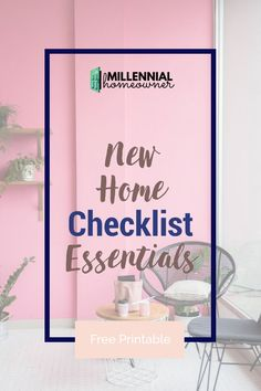 Wondering what essentials you need for moving in to your first house? Get this free printable first home checklist and get collecting what you need. Our first home checklist is a free printable just for you! #moving #house #firsthome #checklist #free #printable