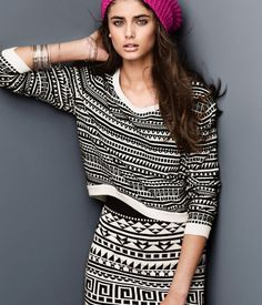 i want this pullover! love the print