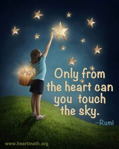 Only from the heart.....