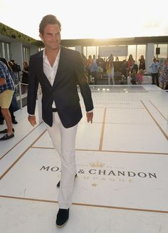 'Tiny Tennis' Event with Roger Federer. Mini Moet & Chandon champagne court.