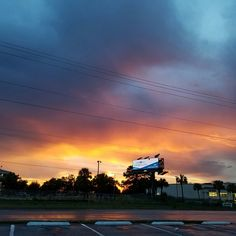 SUNSET OVER CYPRESS GARDENS BLVD.