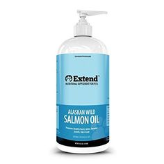 Extend - Alaskan Wild Salmon Oil for Dogs and Cats - 100% Pure Natural Food Grade Liquid - EPA and DHA Fatty Acids - INSTANT MONEY BACK GUARANTEE! Wild Alaskan Salmon Oil provides levels of Omega-3 and 6 essential fatty acids not commonly found in pet foods. This pure oil is made only from wild, non-farmed Alaskan salmon Delicious natural taste dogs and cats love. For dogs and cats of all ages. Supporting healthy skin and glossy coat – EFAs have been widely recommended