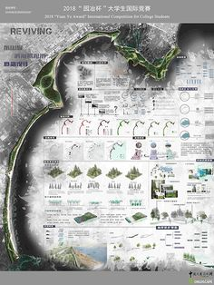 REVIVING 东山岛滨海景观带概念设计 - 毕业设计 - 园冶杯国际竞赛 - Powered by Discuz! Concept Board Architecture, Landscape Architecture Model, Architecture Presentation Board, Landscape Design Plans, Architecture Graphics, Urban Architecture, Presentation Board Design, Urban Design Concept, Layout