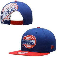 Men's Los Angeles Clippers New Era Royal Blue/Red Original Fit Classic Jumbo Logo 9FIFTY Snapback Hat