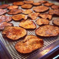 Dehydrator bacon eggplant plus a lot of cool dehydrator recipes dehydrator bacon eggplant plus a lot of cool dehydrator recipes raw food pinterest eggplants bacon and sunnies forumfinder Images