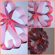 Manualidades faciles para san Valentín corazones de papel