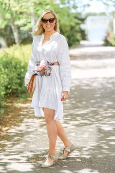 3 x kesähuivi   pinjasblog White Dress, Lifestyle, Asu, Shirts, Dresses, House, Fashion, Vestidos, Moda