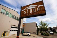[Stoup Brewing sign in Ballard, photo by Jordan Stead, hometown love! -area]