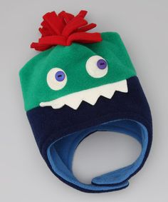 Take a look at this Kelly Green  amp  Navy Buster Earflap Beanie - Kids by 980e889ee048