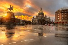 St. Isaac's Square in St. Petersburg, Russia