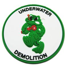 """The Underwater Demolition Teams were the predecessors to today's United States Navy SEALs. This patch was designated to the teams and features a """"Frogman"""""""