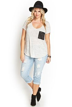 Distressed Cropped Jeans | FOREVER 21 - 2000105238