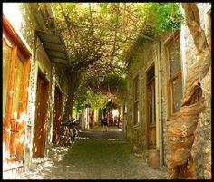 street in Lesvos, Greece