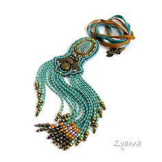 naszyjnik,letni,wesoły,turkusowy - Naszyjniki - Biżuteria w ArsNeo
