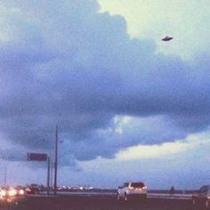 UFO over highway