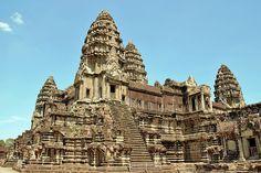 Angkor Wat,Siem Reap,Cambodia Khmer Empire, Siem Reap, Vietnam, Angkor Wat, 12th Century, Barcelona Cathedral, Temple, Tours, 2013