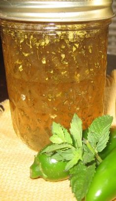 Jalapeno Mint Jelly Recipe - Food.com...try adding a few sprigs of rosemary  and apple juice instead of water