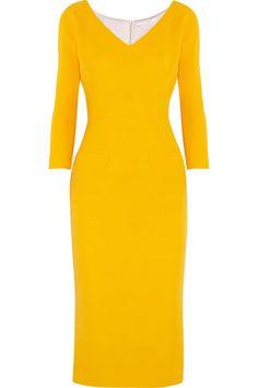 Victoria Beckham|Wool and silk-blend twill dress|NET-A-PORTER.COM